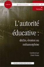 illustration L'autorité éducative : déclin, érosion ou métamorphose